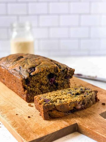 Oat Flour Peanut Butter and Jelly Banana Bread