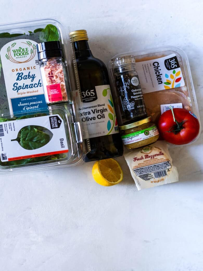 ingredients need to make air fried caprese chicken breasts with pesto