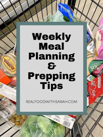 meal planning and prepping tips
