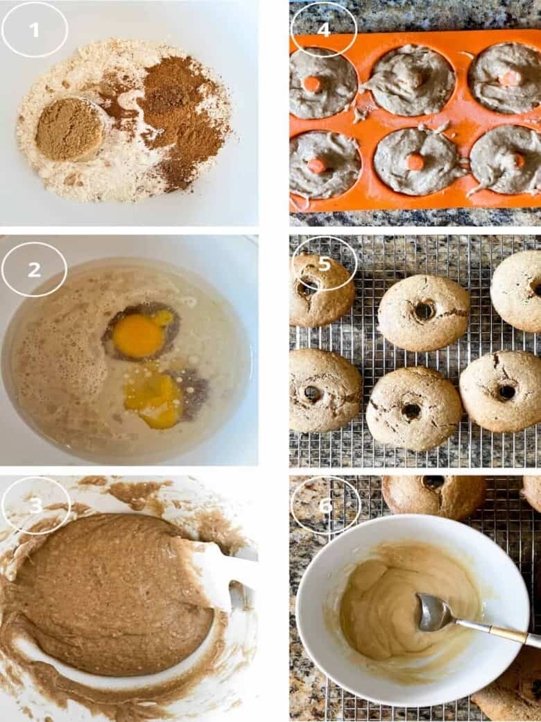 step by step photos for maple donuts
