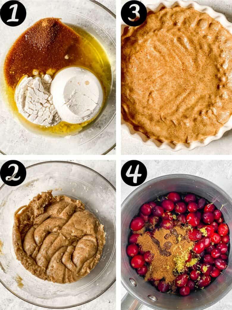 cranberry lemon tart process shots 1
